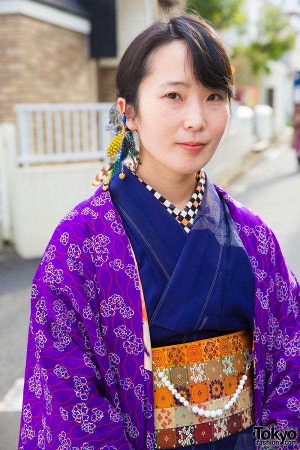 Dark Blue Kimono