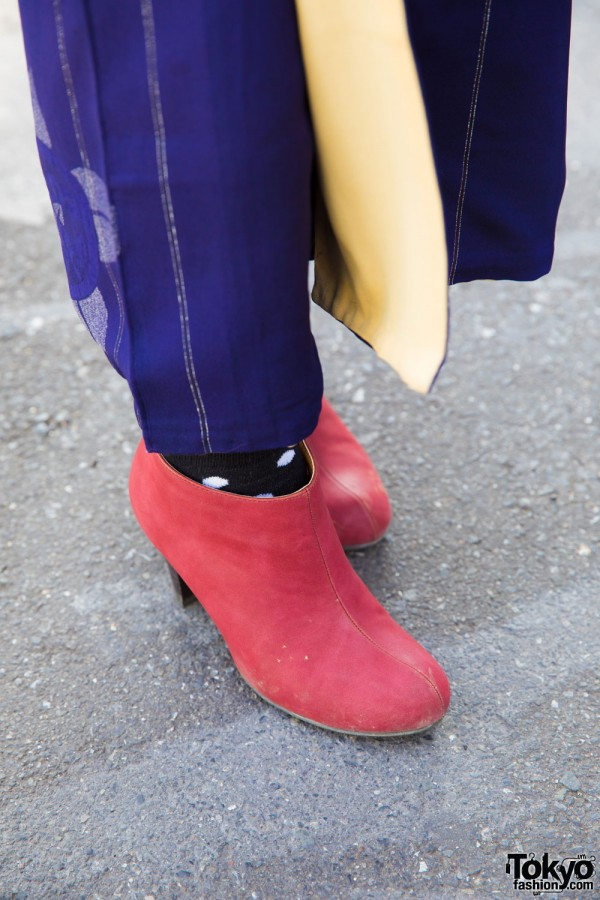 Red Suede Ankle Booties