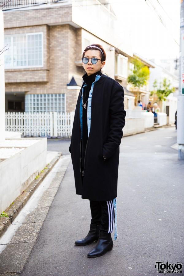 Stylish Harajuku Guy in Warp, Levi's, Topman, Adidas & Coach