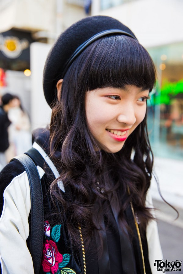 One Spo Beret & Curly Hair