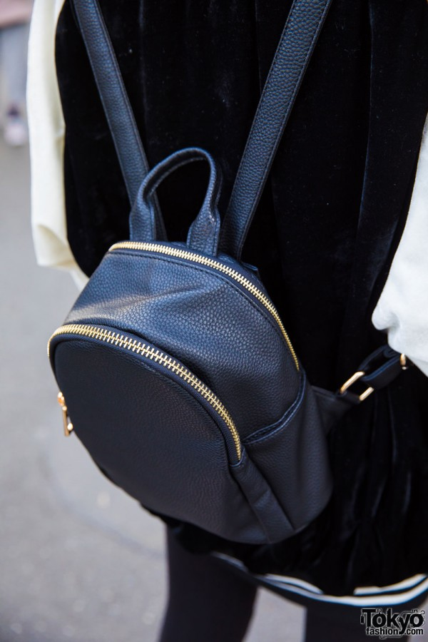 One Spo Black Mini Backpack