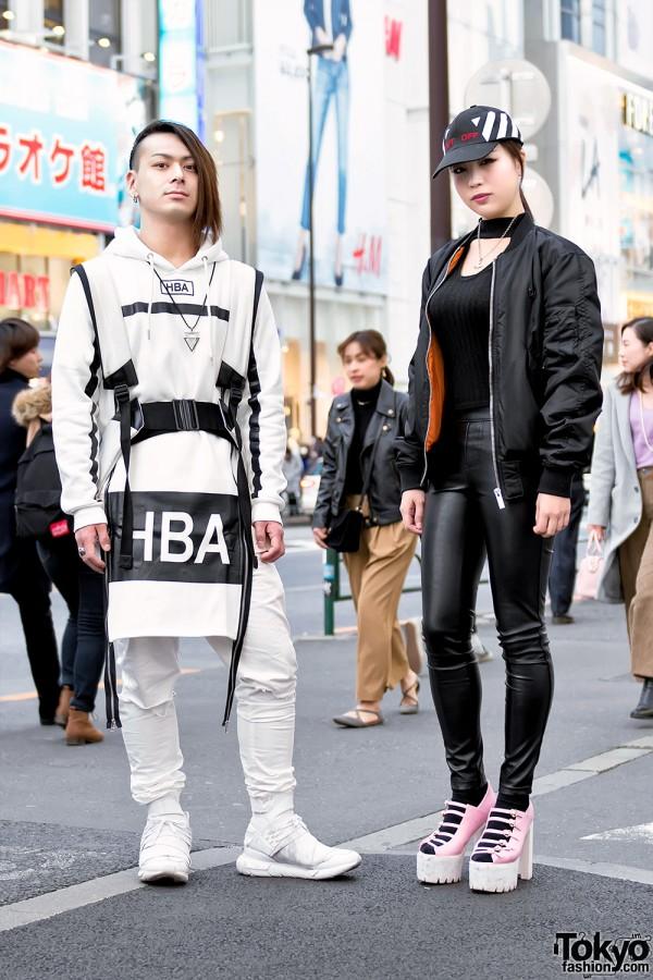 Black & White Harajuku Streetwear