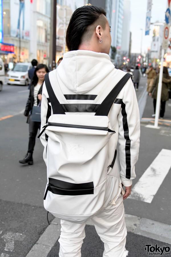 Y-3 by Yohji Yamamoto White Backpack