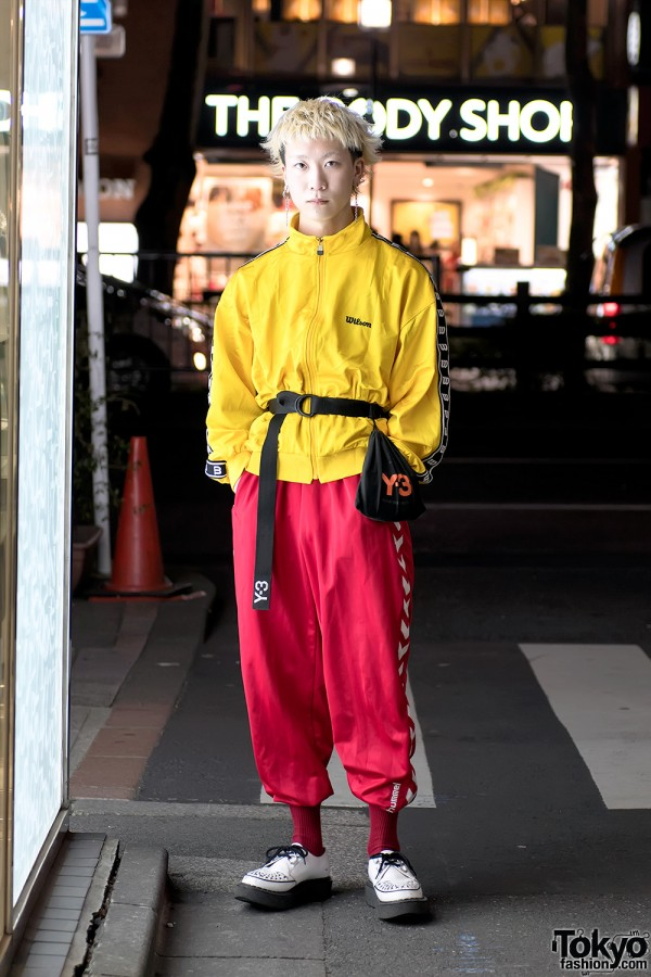 Yellow & Red Japanese Sporty Chic Street Style