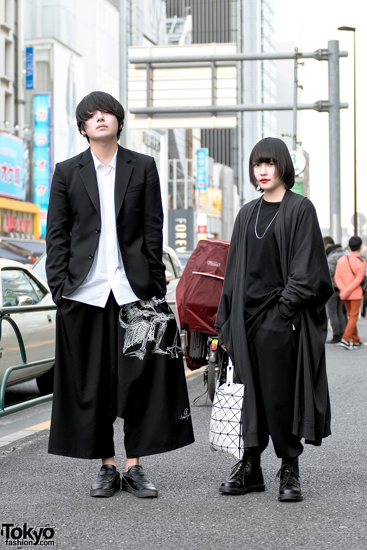 Monochrome Harajuku Street Styles By Yohji Yamamoto Lad