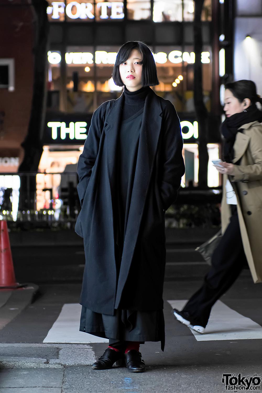 Christophe Lemaire Maxi Coat Yohji Yamamoto Limi Feu In Harajuku