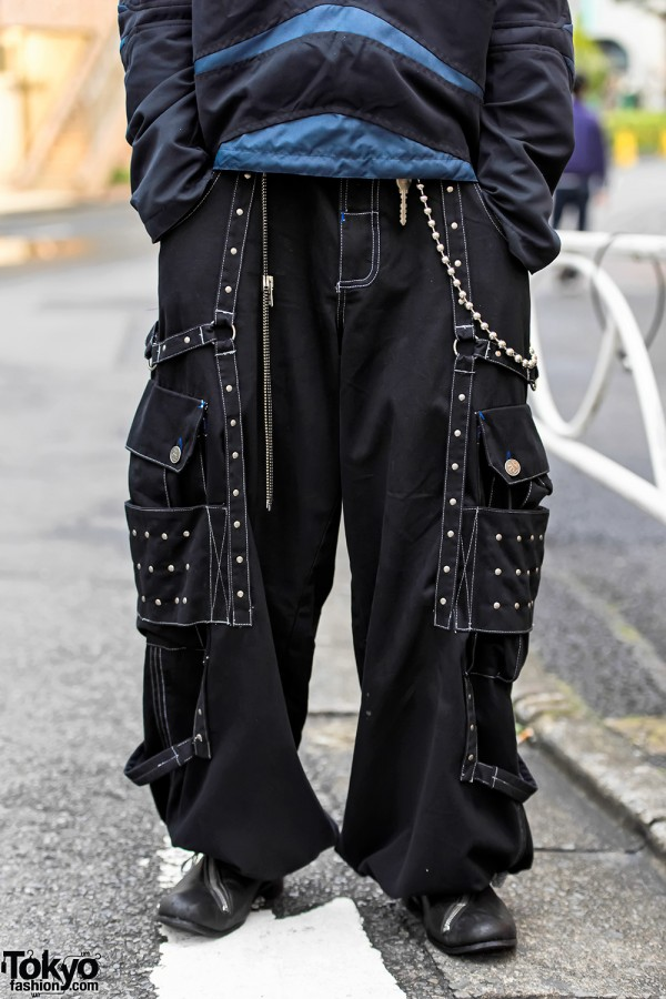 Punk Inspired Pants. T.A.S. Boots & Chain Wallet in Harajuku