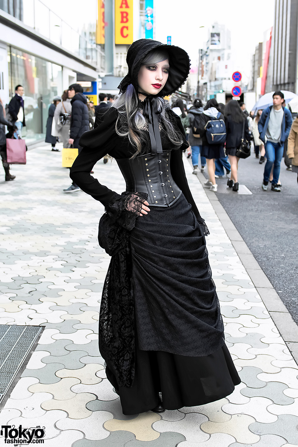 Harajuku Gothic Lace Street Style W Abilletage Corset Vimoque