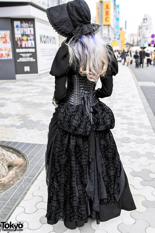 Vimoque Black Lace Dress in Harajuku