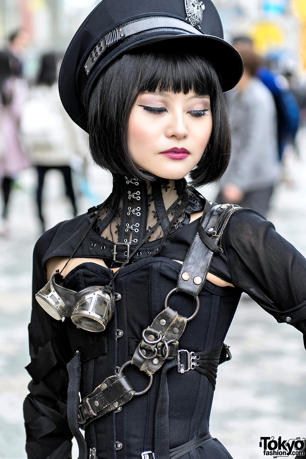 Japanese Steampunk Street Style W Ozz On Amp Pure One Corset Works