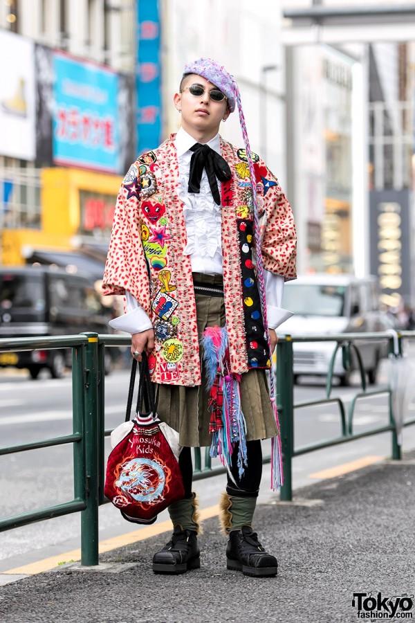 Harajuku Guy in Punk-inspired Street Style