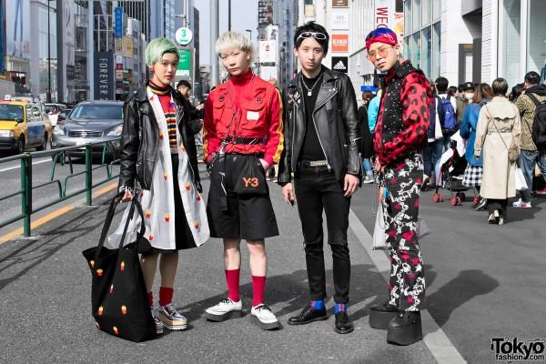 Harajuku Street Style Crew w/ Mikio Sakabe, Yohji Yamamoto, Saint Laurent & Walter Van Beirendonck