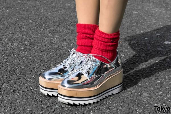 Silver Jeffrey Campbell Platform Shoes