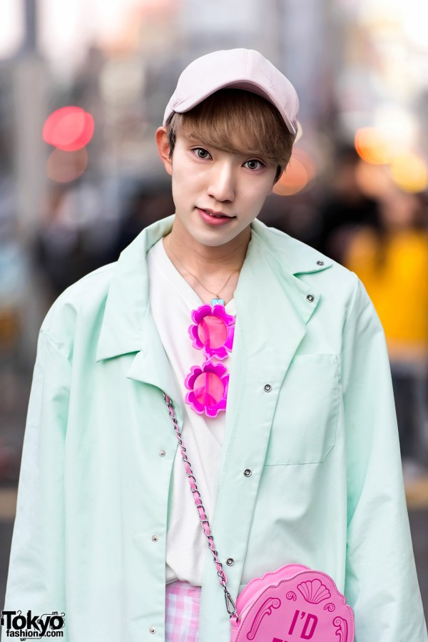 Harajuku Guy in Green & Pink Kawaii Fashion