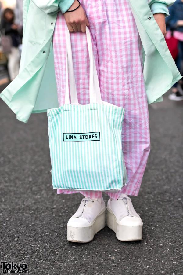 Mint & Pink Colored Harajuku Street Fashion