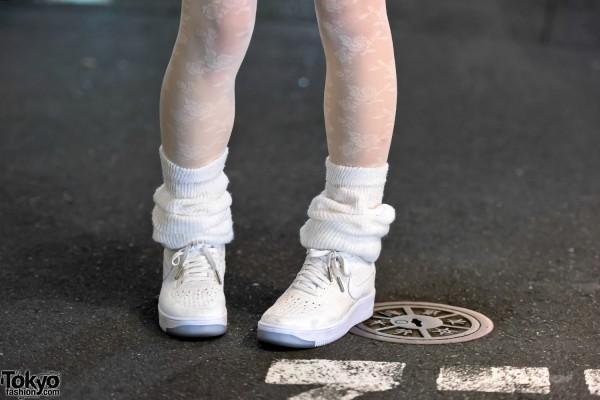 Loose Socks & Nike Sneakers in Harajuku