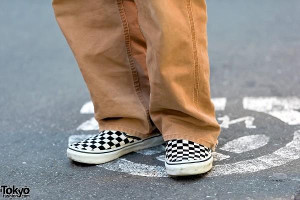 vans checkerboard slip on fashion