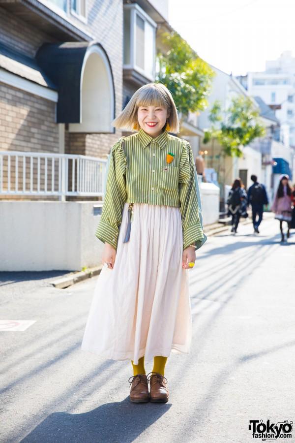 Harajuku Girl in Remake Fashion w/ Ashinaga Ojisan, Nadia & Pylones