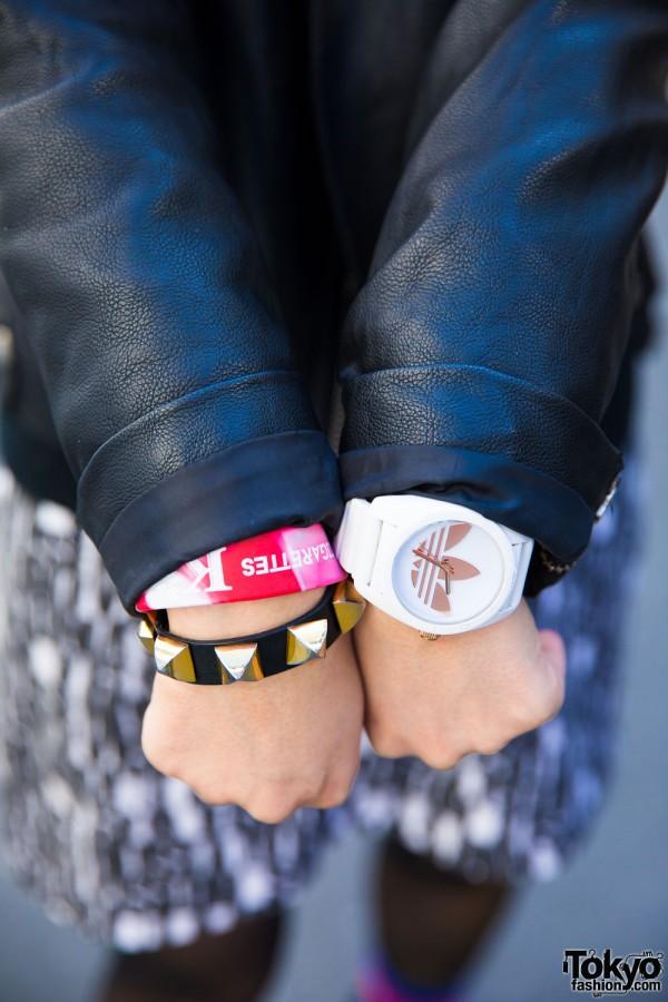 Adidas Watch & Stud Bracelet