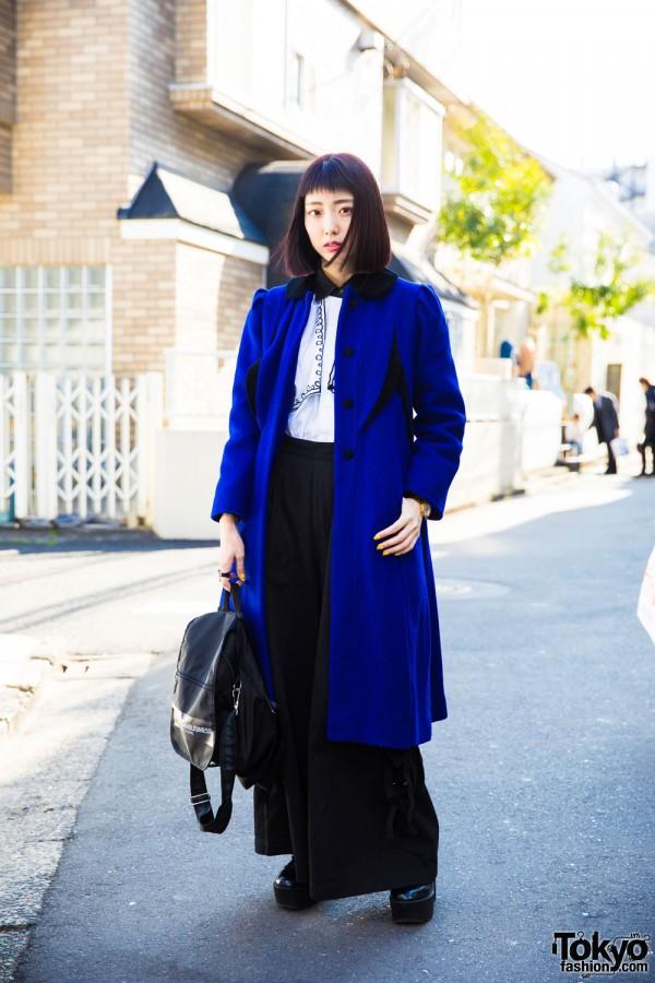 Harajuku Engineer in Blue Coat Sankaku Coat, Punk Cake, Candy Stripper & M.Y.O.B.