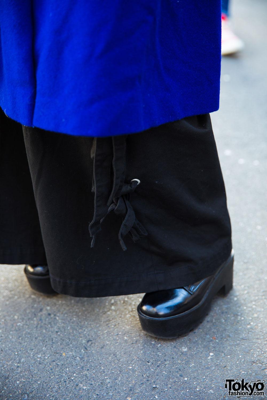 Harajuku Engineer In Blue Coat Sankaku Coat Punk Cake