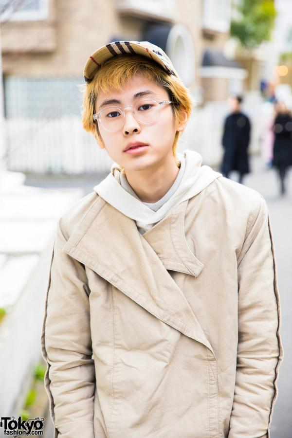 Issey Miyake Hoodie Sweater & Khaki Jacket