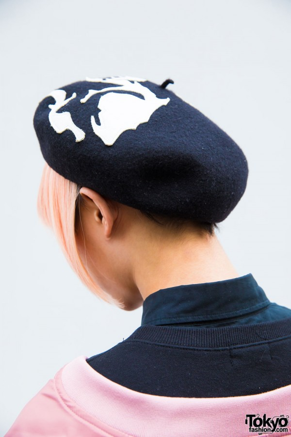 Black and White Beret