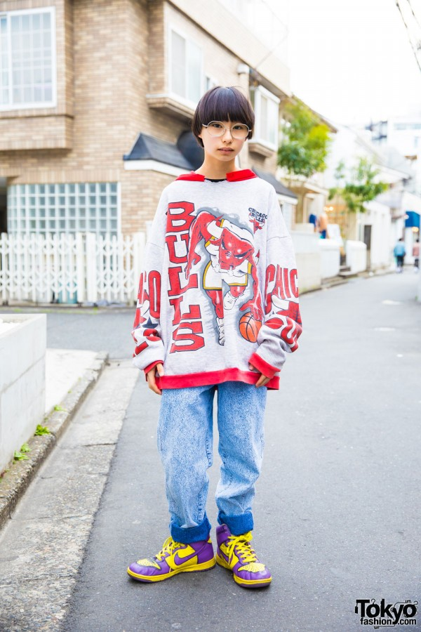 Harajuku Student in Sporty Street Style w/ San To Nibun No Ichi & Nike