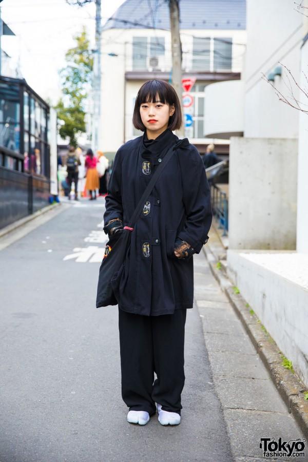 Harajuku Girl in Resale Street Style w/ 8 Seconds & Nike Air Rift Tabi Sneakers