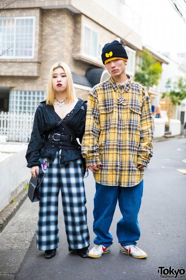 Harajuku Duo in Gingham & Plaid w/ Faith Tokyo, Adidas, Banny, Pin Nap, Punk Cake & Carhartt