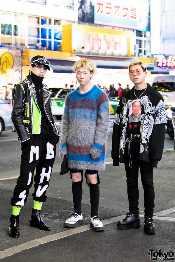 Harajuku Guys in Punk-Inspired Styles w/ 99%IS-, MISBHV, More Than Dope, Plastic Tokyo & Yohji