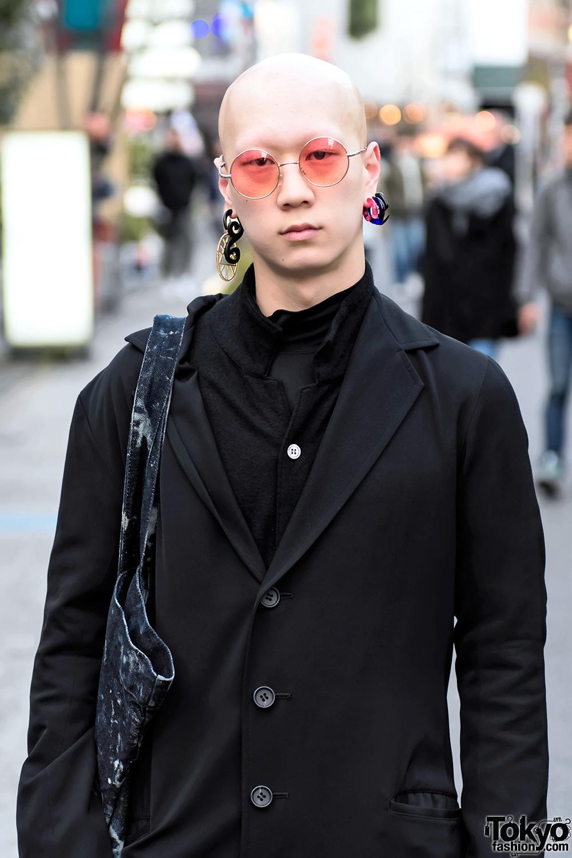 Harajuku Guy In Dark Street Style W Yohji Yamamoto