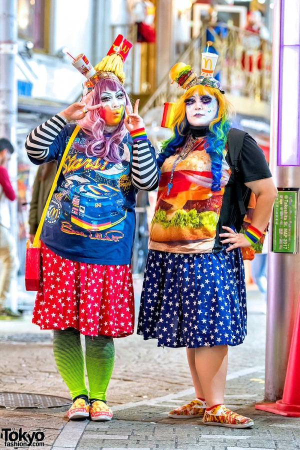 Harajuku Girls in Handmade McDonald's Inspired Street Fashion