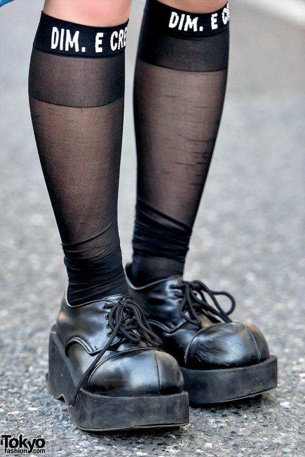 Demonia Platforms & dim.e.cres Knee Socks