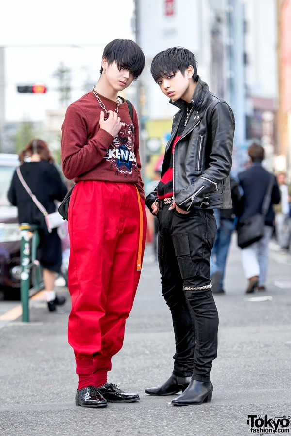 Harajuku Guys in 99%IS- Leather Jacket, Kenzo Sweater & Comme Des Garcons
