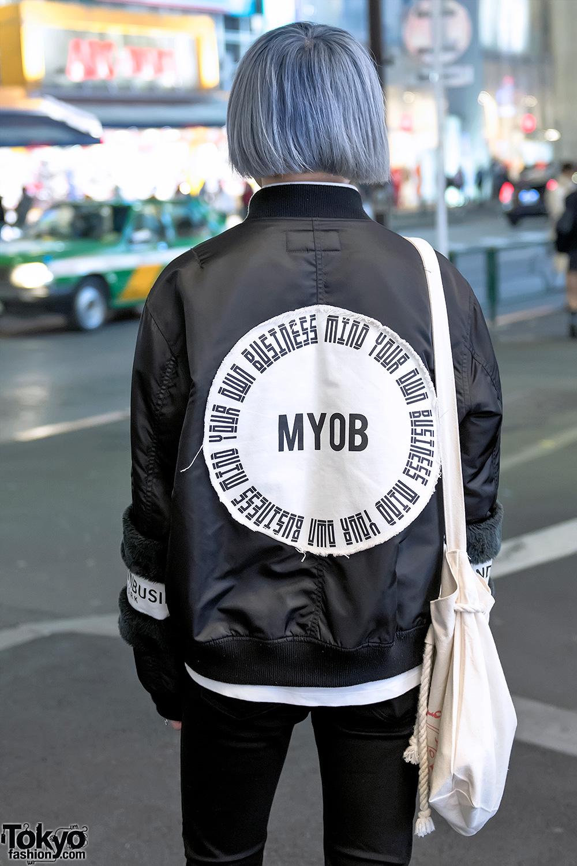 Harajuku Guy Wearing Japanese Streetwear Brand Myob Nyc