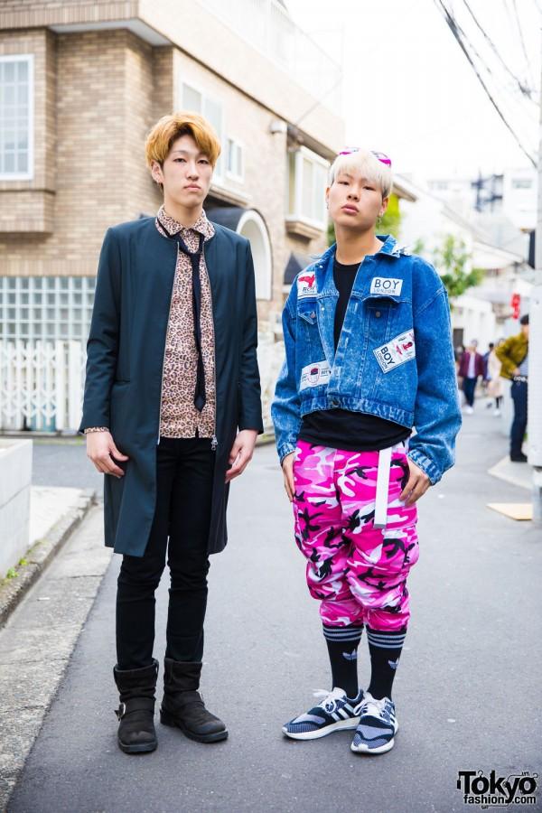 Harajuku Guys in Street Fashion w/ GU, Boy London, Rothco, & Y-3 Pure Boost