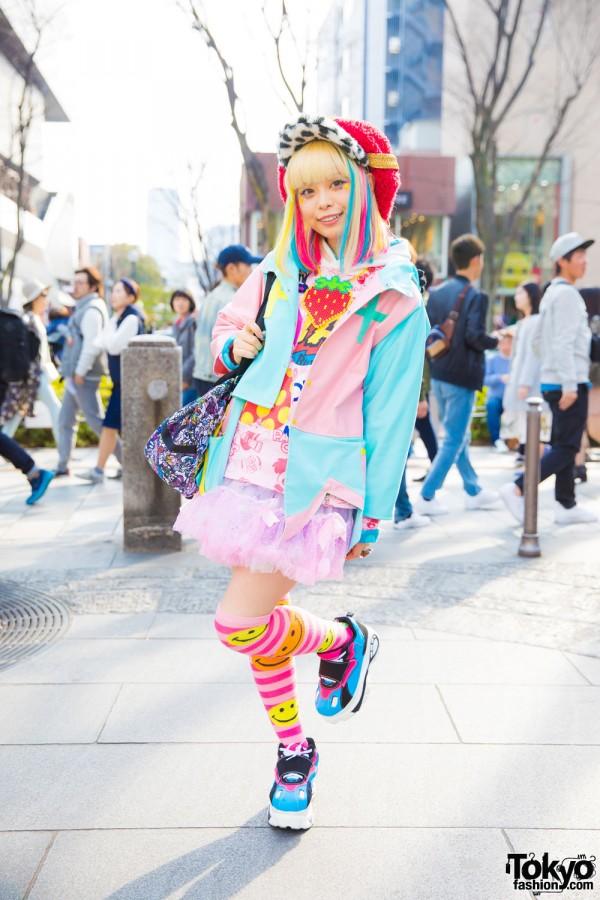 Harajuku Kawaii Model Kurebayashi in Cute Fashion by Zetsukigu, Yoshida Beads, Listen Flavor & Funky Fruit