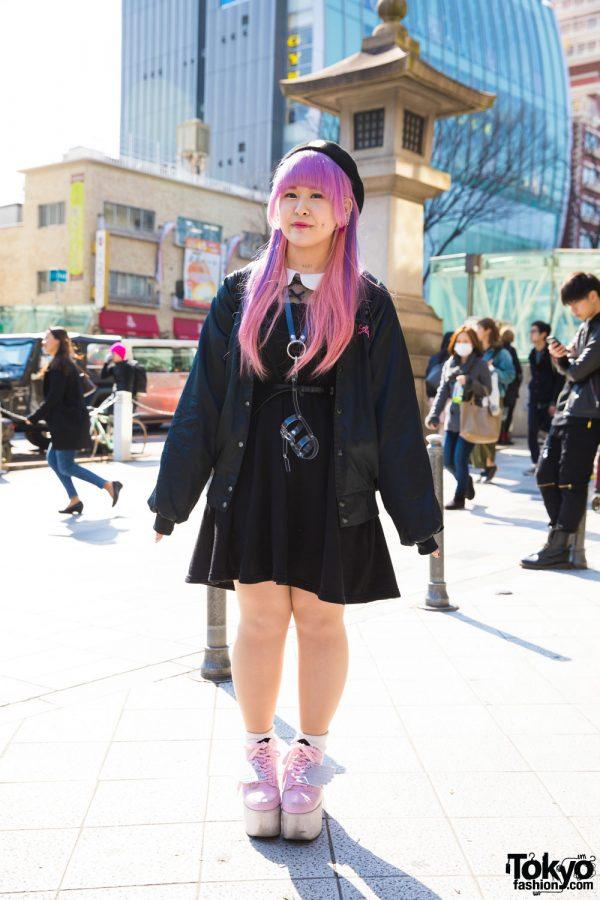 Pink-Haired Harajuku Girl w/ Piercings in Ank Rouge, ID, Spinns, Yumekawa Isan & Funky Fruit