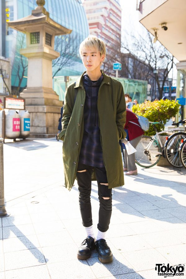 Blonde-Haired Harajuku Guy in Yantor, Soloist, Uniqlo & Dr. Martens
