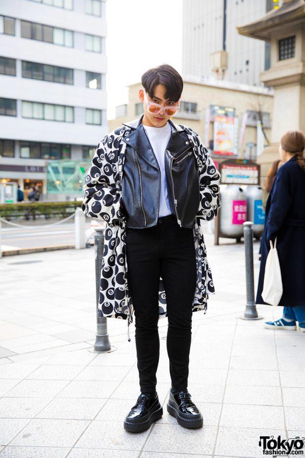 Monochrome Street Style in Harajuku w/ Acne Studios & Jeremy Scott