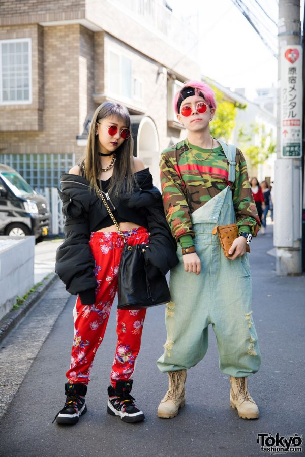 Harajuku Duo in Street Wear w/ Elvira, Rothco, MCM, H&M, Forever21, Adidas, Lucky Leaves & Chanel