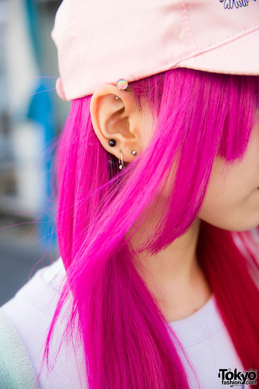 Pink Haired Harajuku Girl in Listen Flavor, Yosuke, 6%DOKIDOKI & Kuchidake Bancho