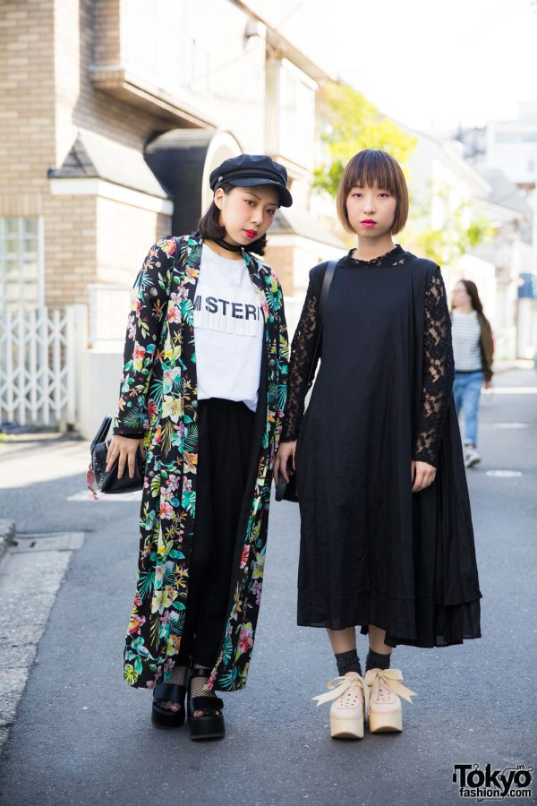 Harajuku Girls in Floral & Lace Fashion by Tokyo Bopper, Dr. Martens, Spinns & Zara