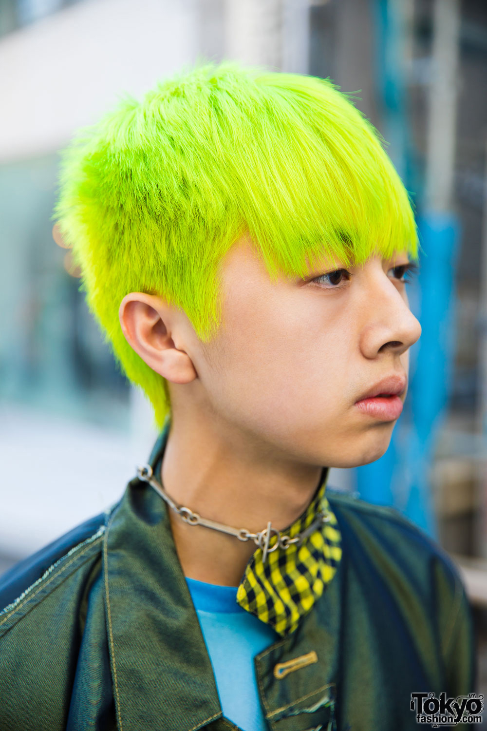 Neon Haired Harajuku Guy In Edgy Street Style W Ppfm