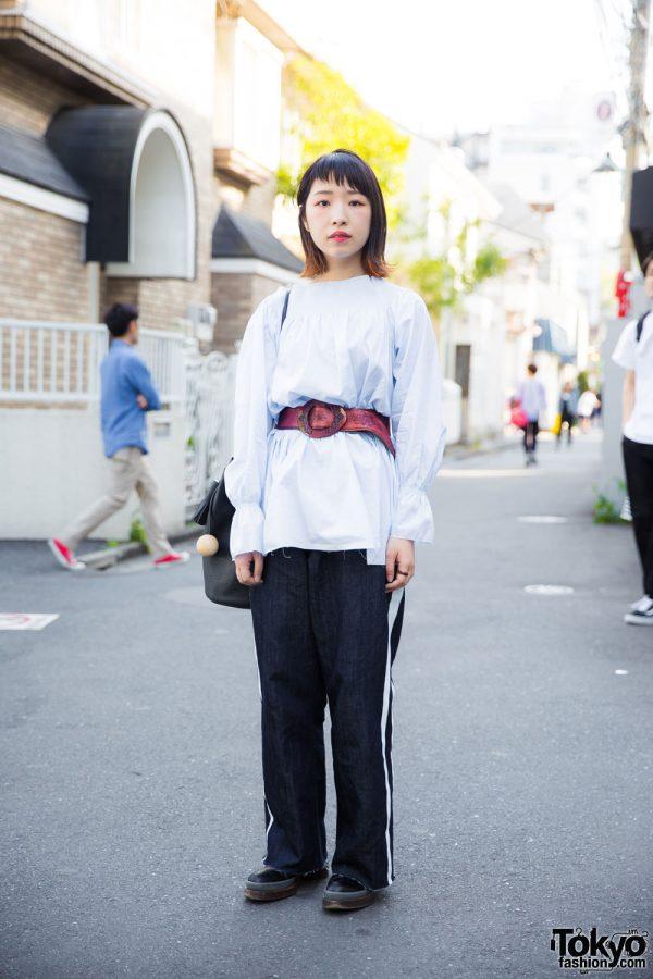 Harajuku Girl in Minimalist Street Style w/ MM6, Prada, Marni & Building Block