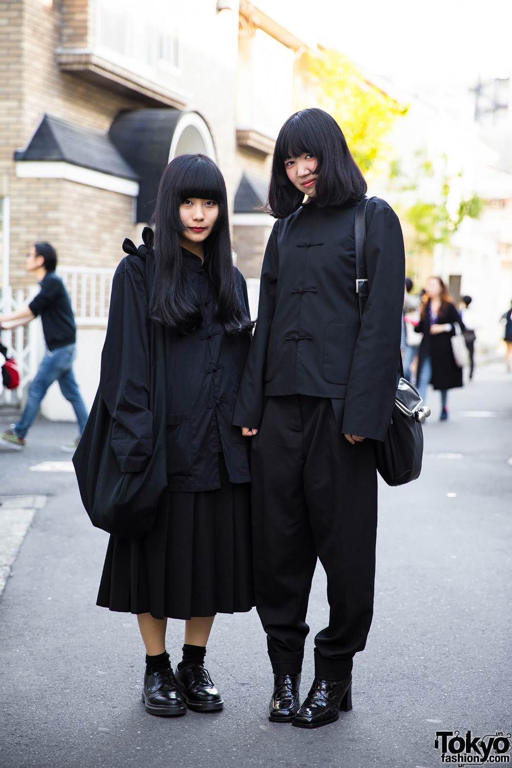 All Black Japanese Minimalist Fashion W Comme Des Garcons