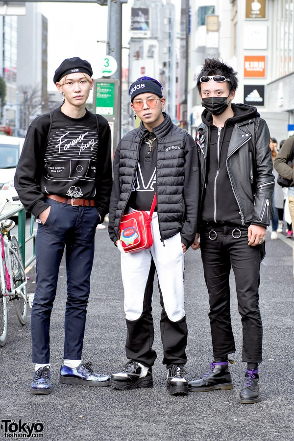 """Harajuku Guys in FaTToyz Jacket, Black Face Mask, """"Forever Young"""" by eyeye"""