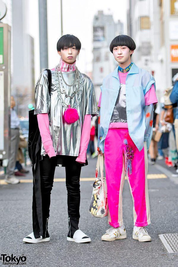 Silver & Pink Street Styles w/ Comme Des Garcons, Yohji Yamamoto, Just In Case, Hussein Chalayan & ilil Tokyo
