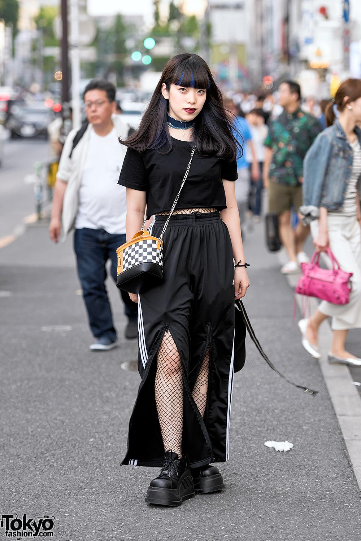 Harajuku Girl In Dark Street Style W Fishnets Kawi